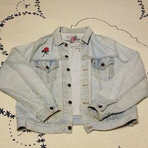 Customized Levis Stonewashed Trucker Jacket Size L